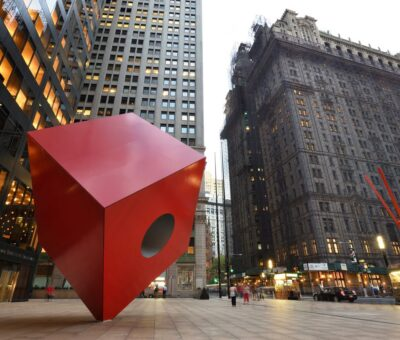 The story of Red Cube sculpture