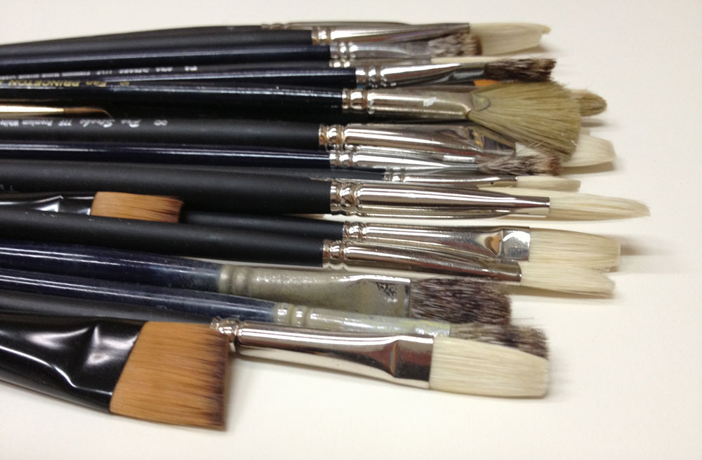 Who invented the first paintbrush